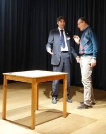 Davide durante una Table topic