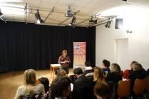 Franca Scuzzarella, Mental Coach e Formatrice durante il suo discorso