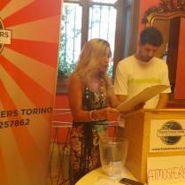 Il TM of the day Marco e l'italian grammarian Sandra creano l'atmosfera